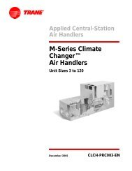 M-Series Climate Changer™ Air Handlers - Trane