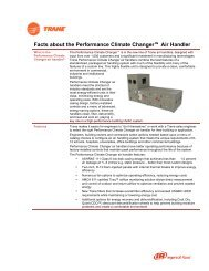 Facts about the Performance Climate Changer Air Handler - Trane
