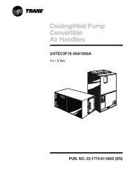 Cooling/Heat Pump Convertible Air Handlers 2/4TEC3F18 ... - Trane