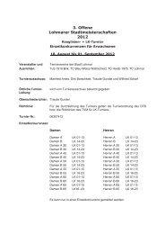 3. Lohmarer Stadtmeisterschaften - TC Lohmar