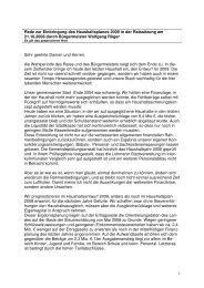 Haushaltsrede von Bürgermeister Wolfgang Röger - Stadt Lohmar