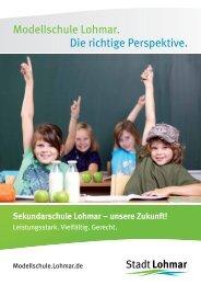 Sekundarschule Lohmar – unsere Zukunft! - Stadt Lohmar