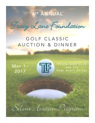 4th Annual TLF Silent Auction Preview