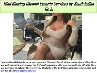 Mind Blowing Chennai Escorts Services by South Indian Girls