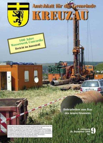 Amtsblatt Nr. 09/2009 vom 25.09.2009 - Gemeinde Kreuzau