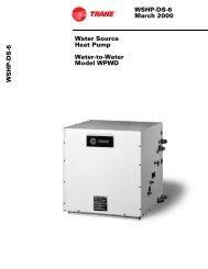 WSHP-DS-6 March 2000 Water Source Heat Pump ... - SeekPart.com