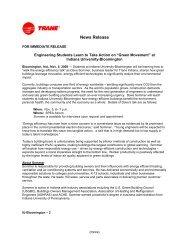 News Release - Trane