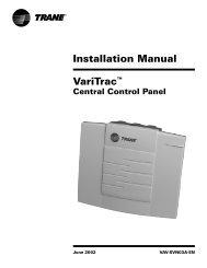 Installation Manual VariTrac™ Central Control Panel - Trane