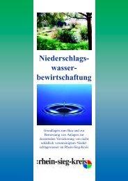Niederschlags- wasser- bewirtschaftung - Rhein-Sieg-Kreis