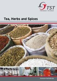 Tea, Herbs and Spices - TrennSo-Technik