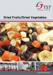 Dried Fruits/Dried Vegetables - TrennSo-Technik