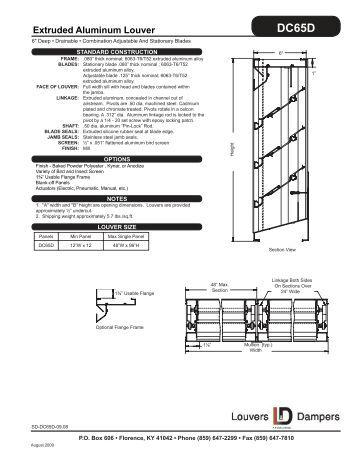 ELBD812 AUTOMATIC INTAKE DUAL COMBINATION LOUVER
