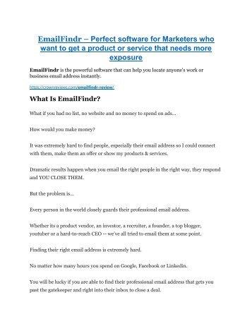 EmailFindr review-$26,800 bonus & discount suddenly