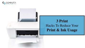 Here's How You Can Reduce Paper & Ink Usage