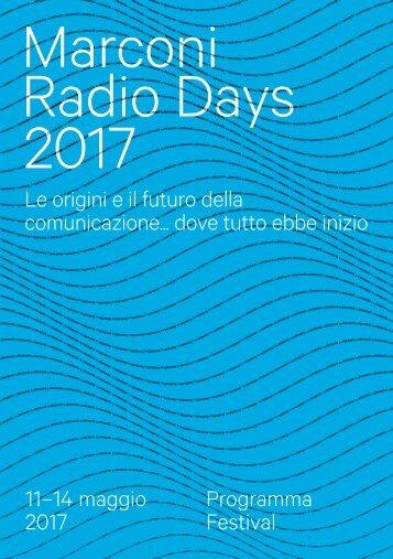 Programma Marconi Radio Days 2017