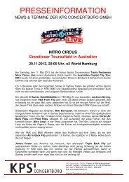 NITRO CIRCUS Grandioser Tourauftakt in Australien ... - Trenz AG