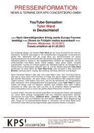 YouTube-Sensation Tyler Ward in Deutschland! - Trenz AG