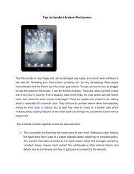Tips to handle a broken iPad screen