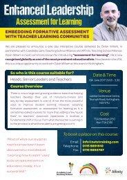 Dylan Wiliam - Formative Assessment Leaflet