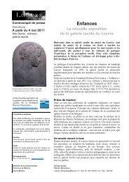 Enfances La nouvelle exposition de la galerie ... - Musée du Louvre