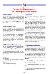 Satzung des Bildungswerkes des Landessportbundes ... - Trenz AG