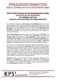 Rock'n'Roll Therapy als durchschlagender Erfolg Dick ... - Trenz AG