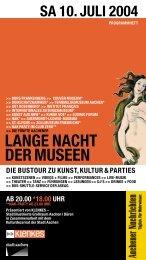 Lange Nacht der Museen 2004 - Ludwig Forum für Internationale Kunst