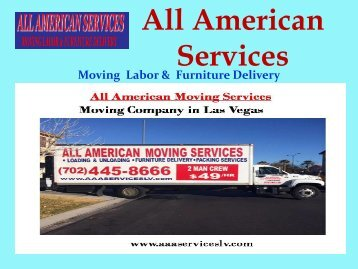 Movers in Las Vegas| All American Moving Services
