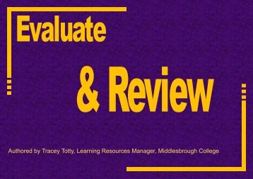 Evaluate and Review