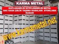 KARMA METAL-ozel tasarim istiflenebilir katlanabilir agir tip metal tasima kasasi kasalari imalati