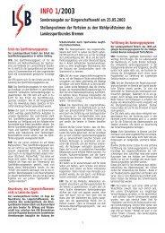 INFO 1/2003 Sonderausgabe zur Bürgerschaftswahl am ... - Trenz AG