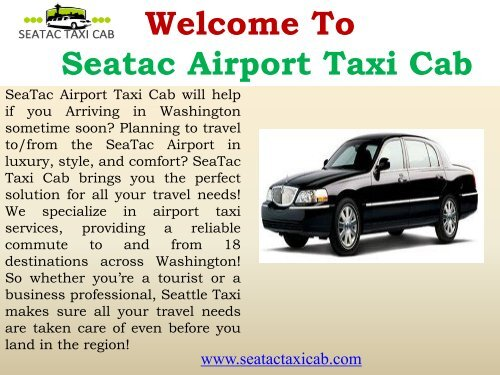 Taxi Service to Airport| SeaTac Taxi Cab