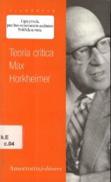 TEORIA CRITICA-MAX HORKHEIMER