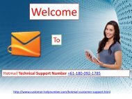 Hotmail Customer Service (+61-180-092-1785)