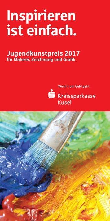 Kreissparkasse Kusel Jugendkunstpreis 2017 - FlyerAusschreibung