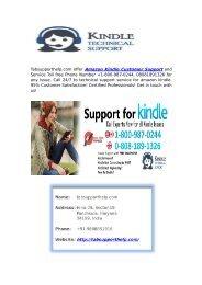 Amazon Kindle Customer Support