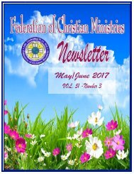 May:June 2017 FCM Newsletter