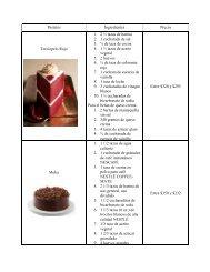 Pasteles & postres