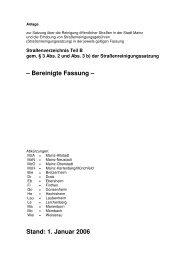 Straßenverzeichnis Teil B - Entsorgungsbetrieb der Stadt Mainz