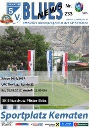 Blues News 233: Heimspiel gegen SK Blitzschutz Pfister Ebbs
