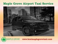 Airport Cab Service in Maple Grove| Maple Grove Taxi Service