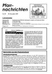 Nachrichten aus dem Pastoralverbund - St. Margareta ...