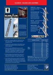 ULLRICH - BLADE-LOK LOUVRES - Ullrich Aluminium