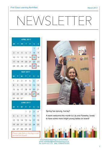 First Class Learning Northfleet - Newsletter 1703