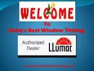 Best Window Tinting in Boise Boise Window Tinting