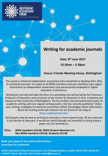 Writing for academic journals - flyer-1