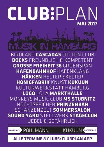 Clubplan Hamburg - Mai 2017