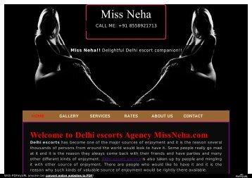 Miss Neha an independent escort girl service provider