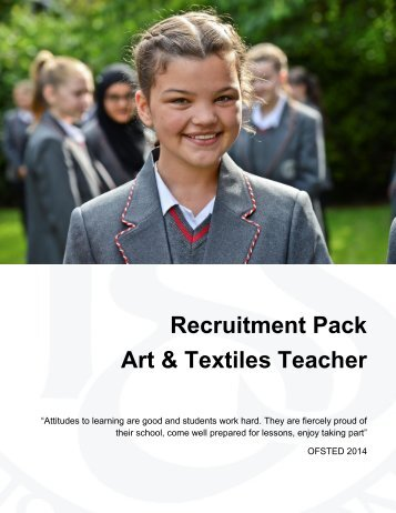 Recruitment Pack - Art & Textiles Teacher April 2017