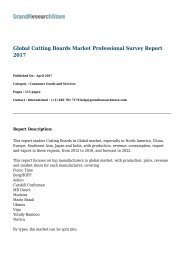 Global Cutting Boards Market Professional Survey Report 2017